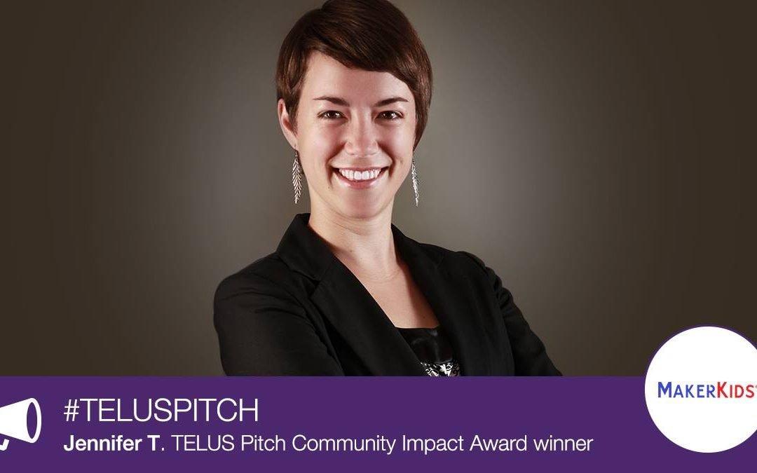 Toronto's MakerKids Wins Telus Pitch Community Impact Award
